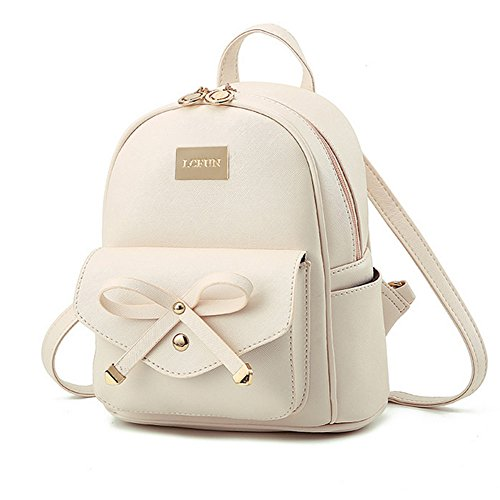 Cute Mini Leather Backpack Fashion Small Daypacks Purse for Girls and Women -
