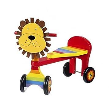 Boys Wooden Trike Ride On Lion Age 1 Super 1st Birthday Present FREE Giftwrap By Orange Tree Toys Amazoncouk Games