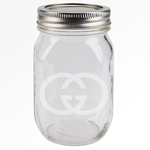 Gucci - Air Tight Custom Etched Herb Stash Jar 2-Piece Screw on lid - Gucci United States