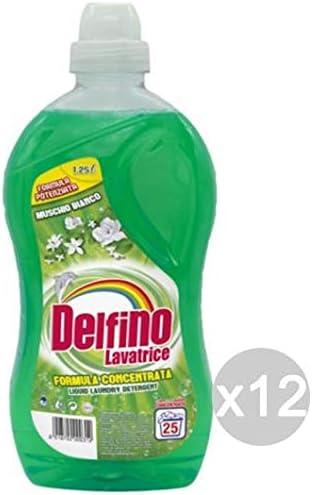 Delfino Juego de 12 almizcle 25lav. L 1 detergente Lavadora y Ropa ...