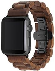 Woodcessories - Band compatibel met Apple Watch Series 1, 2, 3, 4 & 5 gemaakt van echt hout - EcoStrap (38 / 40mm)