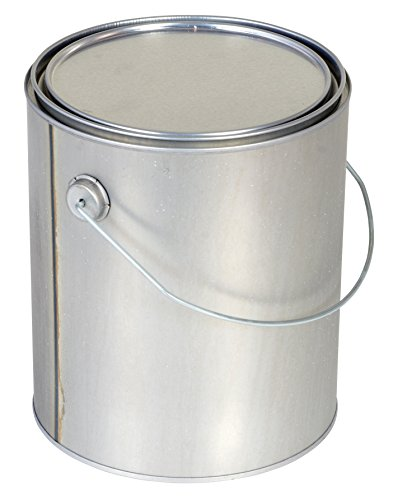 Vestil MRC-128 Tin Plated Steel Round Can with Metallic Lid, 6-9/16