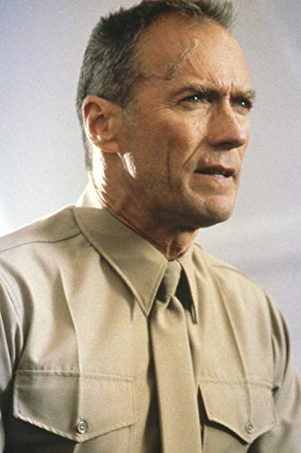 Clint Eastwood In Heartbreak Ridge As Sgt Tom Highway In Marine Shirt And Tie 24x18 Poster