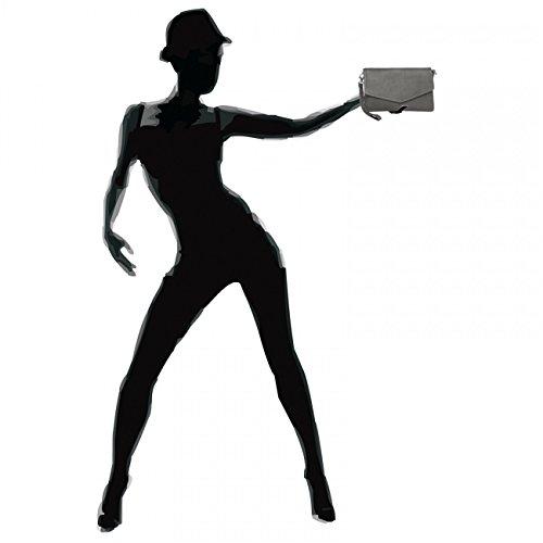 Nappa Ta322 Made Leather Of Handbag Elegant Caspar Clutch Womens Holiday Gray UY6qPW81
