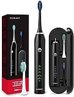 ELEGIANT Sonisk tandborste Elektrisk tandborste med resväska DeepClean uppladdningsbar med 5 kraftfulla lägen Smart Timer...