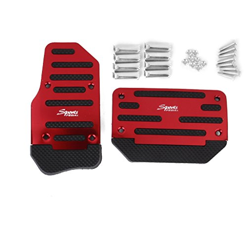 MagiDeal Brake Accelerator Sport NonSlip Pedal Pad Vehicle Automatic AT Car Red