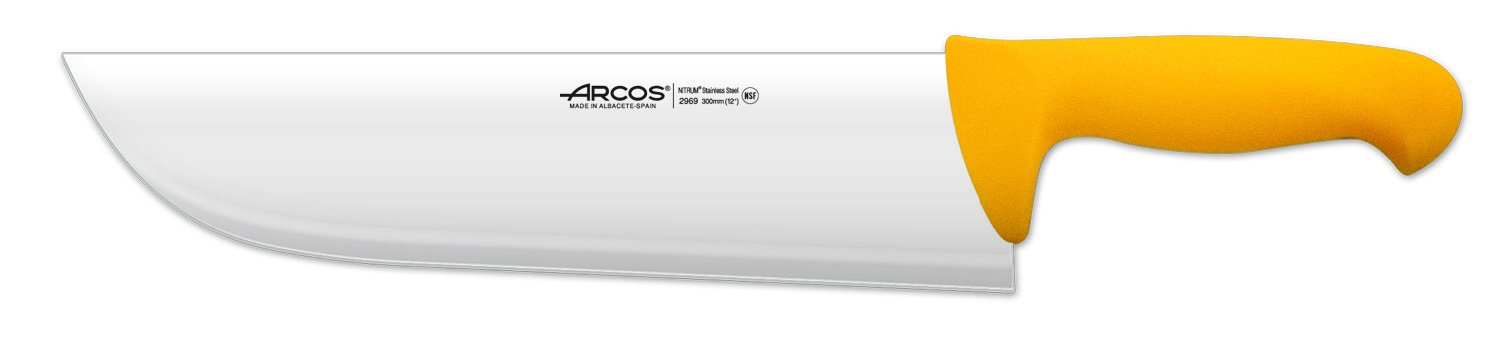 Arcos 12-Inch 300 mm 640 gm 2900 Range Cleaver, Yellow by ARCOS