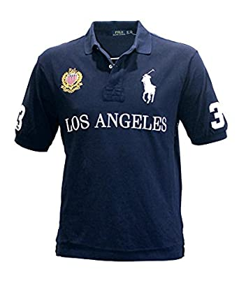 Polo ralph lauren men 39 s pony shirt top city los angeles for Big and tall custom polo shirts