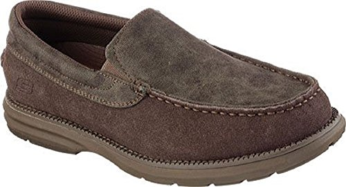 Skechers Men's Relaxed Fit Volte Stand,Dark Brown,US 7 M