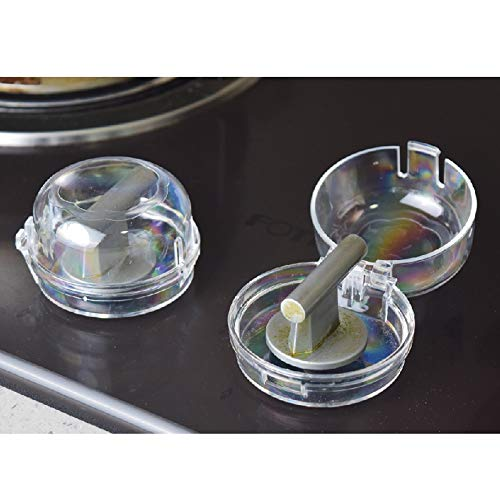 Clear Stove Knob Covers (1 Pack) Child Safety Guards, Large Universal Design – Baby Proof