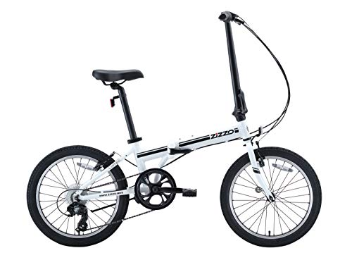 EuroMini ZiZZO Campo 28lb Lightweight Aluminum Frame Shimano 7-Speed Folding Bike 20-Inch (White - Aluminum Folding Bike
