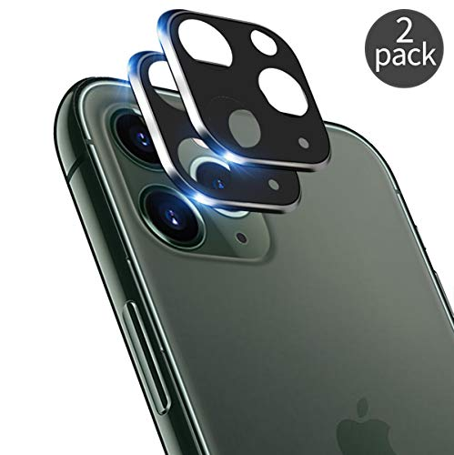 [2 Pack] QHOHQ Camera Lens Protector for iPhone 11 Pro Max(6.5),iPhone 11 Pro(5.8),Screen Protector Ultra Thin High Definition Anti-Scratch Tempered Glass [Easy to Install] (Black)