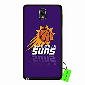 Samsung Galaxy Note 3 Case Abstract NBA Phoenix Suns Basketball Team Logo Sports Design Slim Hard Black Protective Shell Accessories Case Cover for Men