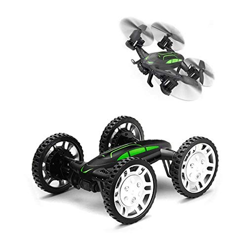 PYRUS RC Quadcopter, Land and Air Two Modes Aircraft 4-Axis High-Speed Car with App/WiFi Phone Control UAV Four-Wheel Drive (Quadcopter) (Black)