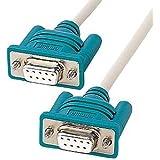 サンワサプライ アウトレット KR-LK2 RS232C ケーブル インターリンク 9pin-9pin 2m 箱にキズ、汚れのあるアウトレット品です。