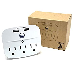 Cruise Power Strip No Surge Protector with USB Outlets – Ship Approved (Non Surge Protection) Cruise Essentials