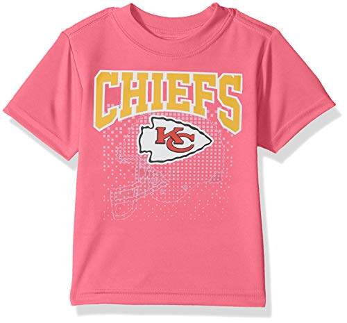 Gerber Childrenswear NFL Kansas City Chiefs Girls 2018Short Sleeve Team Logo Tee, Pink, 2T by Gerber Childrenswear