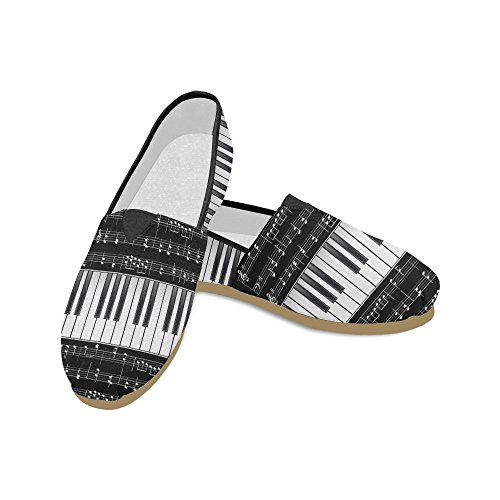 D-story Mode Sneakers Lägenheter Kvinna Klassisk Slip-on Canvas Skor Loafers Piano