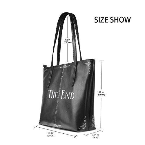 COOSUN Movie Ending Screen PU Leder Schultertasche Handtasche und Handtaschen Tote Bag für Frauen