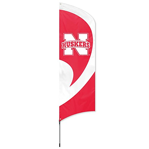 Party Kit Ncaa (Party Animal NCAA Nebraska Cornhuskers College Tailgating Flag Kit)