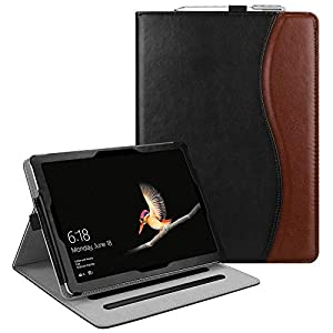 Fintie Case for New Microsoft Surface Go 10-inch Tablet - Multiple Angle Viewing Folio Stand Cover with Card Pocket, Compatible with Type Cover Keyboard (Dual Color)