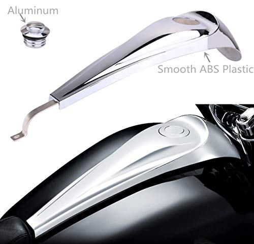 AUFER Chrome Signature Jim Nasi Smooth Dash with Vented Fuel Tank Cap for Harley Street/Road Glide 2008-2017