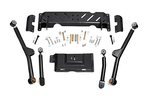 Long Arm Lift Kit - Rough Country - 61600U - X-Flex Long Arm Upgrade Kit for 4-6-inch Lifts for Jeep: 84-01 Cherokee XJ 4WD, 86-92 Comanche MJ 4WD