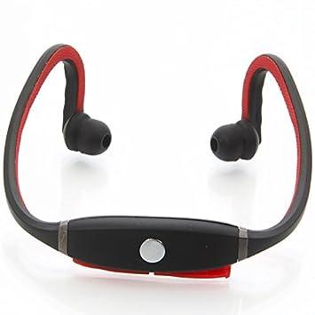 LTB-H10 - Auriculares inalámbricos (Bluetooth, ranura de tarjeta de memoria TF), negro y rojo: Amazon.es: Electrónica