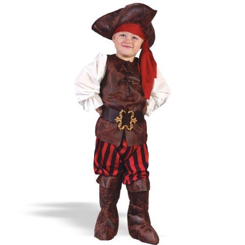 [Fun World Costumes Baby Boy's Toddler Boy Highseas Buccaneer Costume, Brown/White, Large] (Toddler Boys Pirate Costumes)