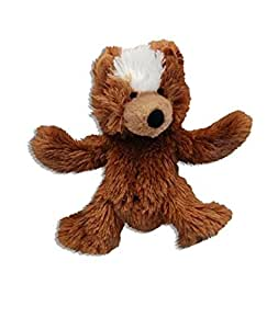 KONG Teddy Bear Dog Toy, Extra Small, Brown