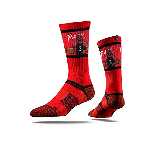 Strideline NBA Houston Rockets Chris Paul Action Premium Athletic Crew Socks, One ()