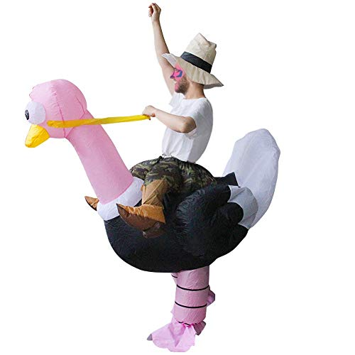 40 Unique And Funny Halloween Costumes (ATDAWN Inflatable Costume Riding an Ostrich, Inflatable Costumes, Halloween Costume, Blow Up Costume, Adult)