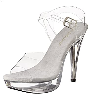 Pleaser Women's Cocktail-508/C/M Platform Sandal,Clear/Clear,6 M US