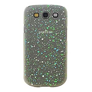 JAJAY-ships in 48 hours Little Dots Design Night-Glow Pc Case for Samsung Galaxy S3 I9300 (Assorted Colors) , Pink
