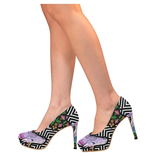 D-story Flamingo Donna Sexy Stiletto Scarpe Con Tacco Alto Scarpe Multicolored12