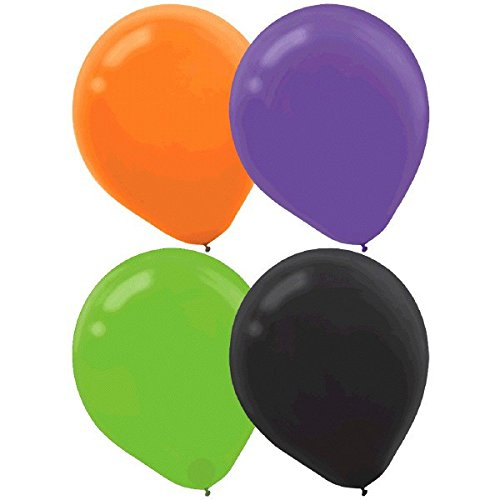 Amscan Assorted Halloween Trick or Treat Party Balloons Decoration (Pack of 15), Multicolor, 12