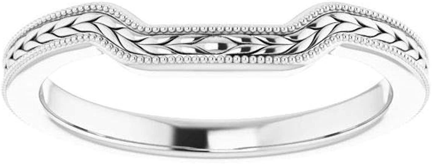 Size 10 Bonyak Jewelry 14k White Gold 1.5 mm Flat Edge Band