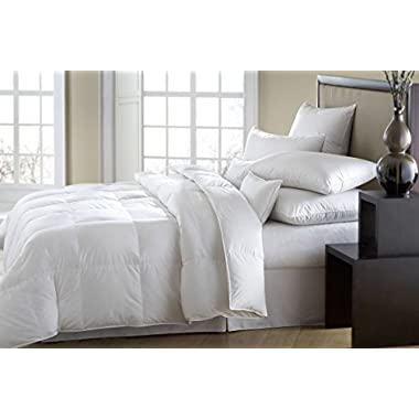 The ULTIMATE White Down Goose Alternative Comforter Duvet Insert Hypoallergenic Double Brushed for Superior Softness and Washable QUEEN 74 Oz Fill