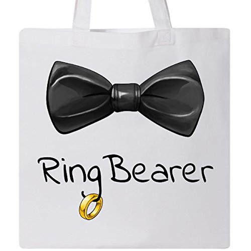 Inktastic - Ring Bearer- black bow tie Tote Bag White 2ff55 -