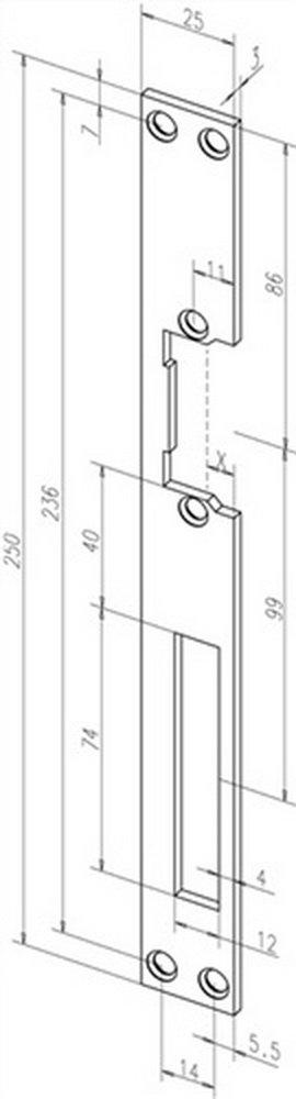 Flachschließblech HZ Edelstahl 02135-01 25 x 250 x 3 mm