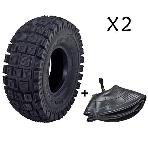 JCMOTO 2 Sets of 3.00-4 Tire & Inner Tube for Scooters Go Kart Rocket Chopper Goped Bike - 10 x 3 | 260 x 85 | 9x3.50/3.00-4