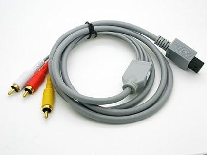 Cable Adaptador de 1 Conexion de Wii a 3 RCA Audio Video para Nintendo Wii 2501: Amazon.es: Industria, empresas y ciencia