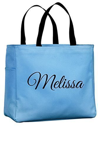 Personalized Monogrammed Open Top Tote Bag Wedding, Bridesmaid Gift, Bride, Teacher, Office, Nurse (Personalized Tote Bags For Bridesmaids)