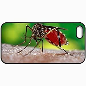 Customized Cellphone Case Back Cover For iPhone 5 5S, Protective Hardshell Case Personalized Mosquito Black