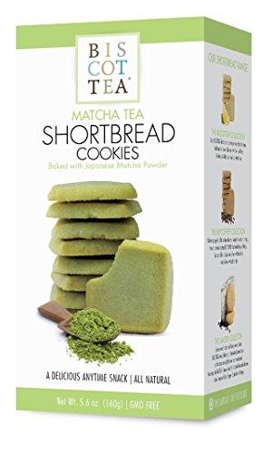 - BISCOTTEA Matcha Green Tea Shortbread Cookies (8 Cookies)