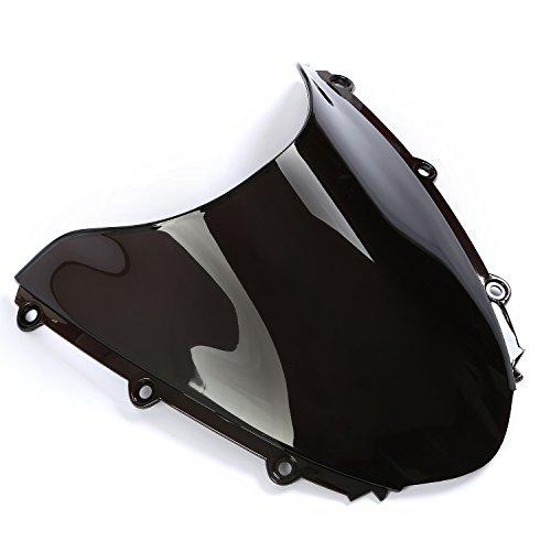 CICMOD Black Wave Windshield Fairing Windscreen Lens For Honda CBR1000RR 2004-2007