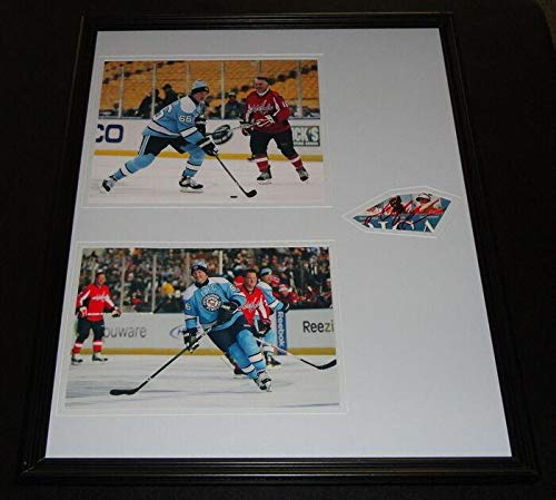 Signed Mario Lemieux Photograph - Framed 16x20 Display Winter Classic - JSA Certified - Autographed NHL Photos