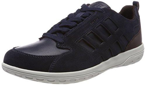 Geox Men's U Mansel a Low-Top Sneakers Blue (Navy/Dk Burgundy) e1uwkM7