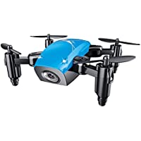 ShenStar S9W Mini Quadcopter Portable Drone with Camera Altitude Hold Headless Mode (Blue)