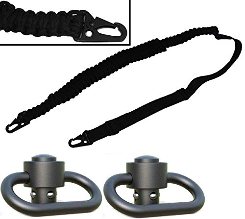 Ultimate Arms Gear Two 1.50'' QD Push Swivels + 550 lb Paracord Survial Sling, Black 56' ft Cord with Hook Ends for Beretta CX4 Rifle 12/20 Gauge by Ultimate Arms Gear (Image #9)
